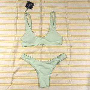Zaful pastel green bikini